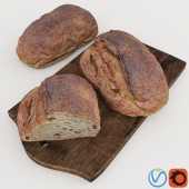 HD Realistic Farmer Buckwheat Bread