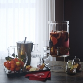 Glass drink dispenser by Crate and Barrel