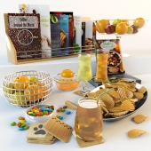 Decoration With Fruits, Drinks & Snacks