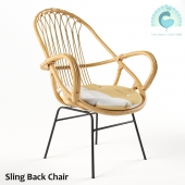 Sling Back Chair Natural