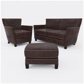 Набор мебели  Briarwood Leather Loveseat от   Crate&Barrel