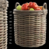 Aubrey Woven Tote Basket, Potterybarn