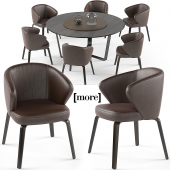 Mudi armchair and Pero round table set