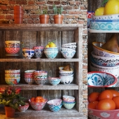 Tableware in ethnic style