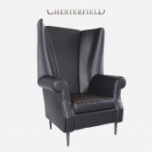 Luxury Leather Armchair Chesterfield