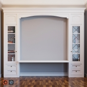 Книжный шкаф, стол