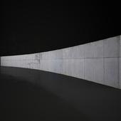Concrete wall 25m long