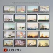 Классика американской живописи. Сборник 1. 20 картин. Морская тематика.