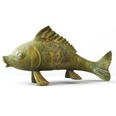 Large Bronze Good Luck Koi Fish