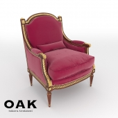 OAK Upholstered Armchair - mg3141