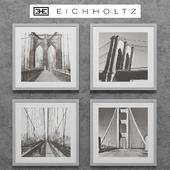 Eichholtz Set of 4 New York Bridges Prints