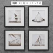 Eichholtz Set of 4 Boat Prints