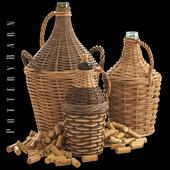 Found Woven Wine Bottle, Potterybarn