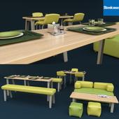 Steelcase офисная мебель столовая