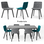 Fredericia PATO WOOD BASE chair, MESA table