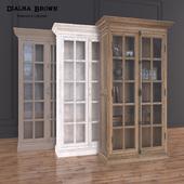 Dialma Brown Glass cabinet in three color+Decor