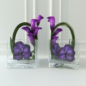 Orchid flower calla lilies