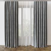 Современная прямая штора