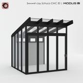 Зимний сад CMC 50 MODUS со стеклянным навесом