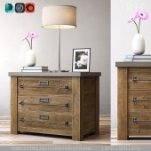 MERCANTILE 32in CLOSED NIGHTSTAND