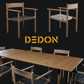 Стол и стул Tibbo Dedon