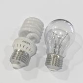 Лампочки экономная и накаливания