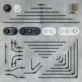 Конструктор ретро проводки + розетки и выключатели