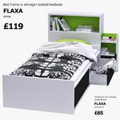 IKEA FLAXA (bed and headboard)
