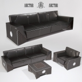 sofa armchair and coffee table ART Auctor