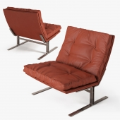 Centrum Mobler EASY CHAIR WITH STEEL FRAME