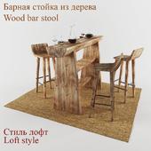 wood bar. loft style