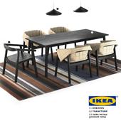 IKEA (chair Esbjorn. table Tranetorp. ikea PS led lamp)