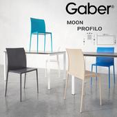 GABER Moon chair Profilo table