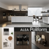 Кухня Poliform Varenna Alea 4 (vray GGX, corona PBR)