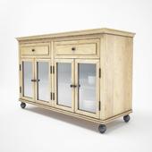 Wood sideboard Restoration Hardware