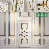 Дверь и настенные панели Dore Rotu 3BR White