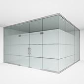 Офисная стеклянная перегородка 2