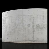 Concrete wall 5m long