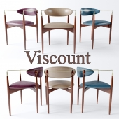 "Dan Johnson ""Viscount"" Brass Accent and Leather Armchair"