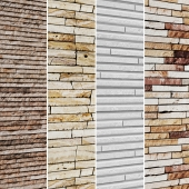 The collection of stone panels 4 pcs.