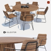 Gloster William chair + Whirl table