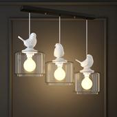 HANGING LAMP PROVENCE BIRD PENDANT ANGLE 3