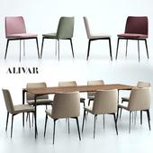 ALIVAR / Flexa Chair and Liuto table