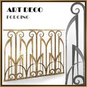 Forged fences Art Deco