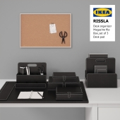 Table set Ikea RISSLA Box, set of 3, Desk organizer, Magazine file, Desk pad / RISSLA