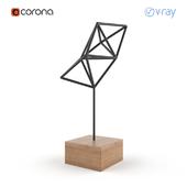 Geometric bird sculpture