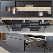 Kitchen units with accessories Blum