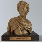 Small brass Caesar statue