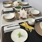 Сервировка стола Tognana Linea Algarve Beige