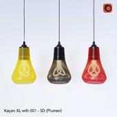 Kayan XL with 001 - 3D printed (Plumen)